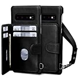 Homelove Samsung Galaxy S10 Case,Galaxy S10 Wallet Case, [Premium PU Leather][Card Slots][Detachable Hand Strap],Slim Scratch-Resistant Shockproof Case for Galaxy S10 6.1'(2019) Black