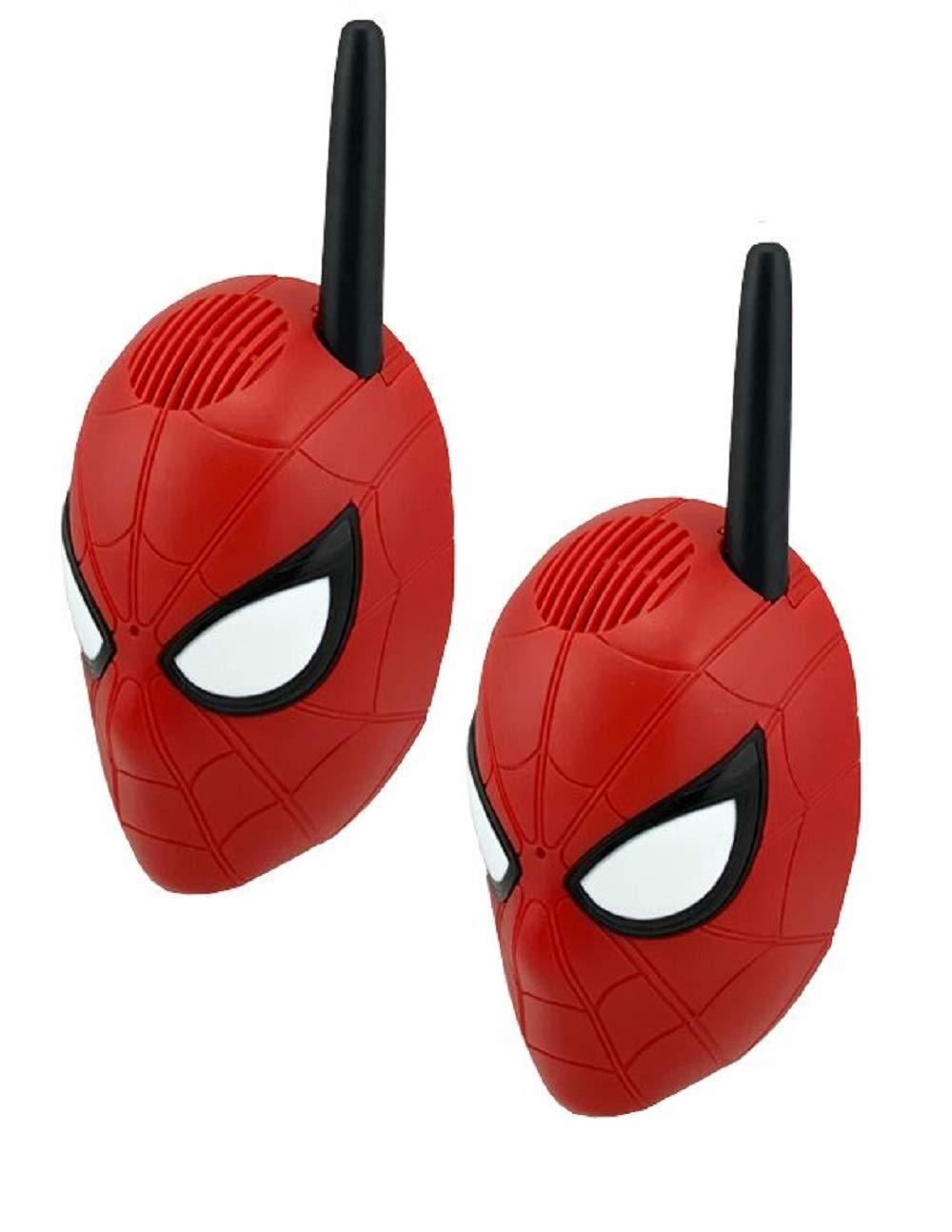 ekids super hero character walkie talkies for kids with long range 2 way radios Spiderman