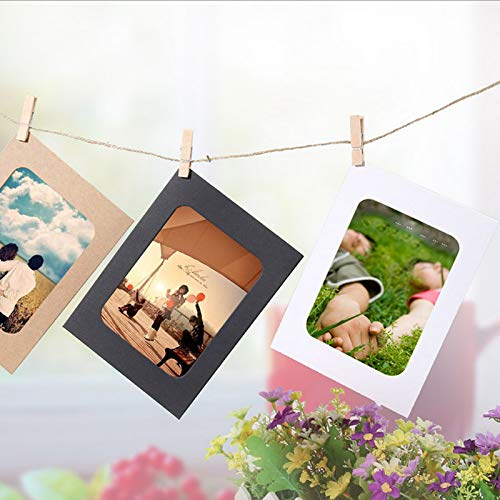 wwl 10PCS DIY Photo Frame Wooden Clip Paper Picture Holder Wall Decoration for Wedding 2019 Graduation Party Photo Booth Props by wwl