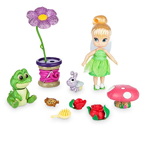 Disney Animators' Collection Tinker Bell Mini Doll Play Set - 5 (Make It Peter Pan Costume)