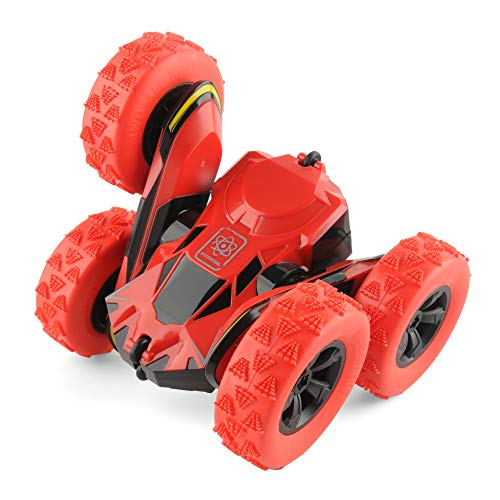 Control Track Switch Remote (Rimila Electric RC Stunt Car 2WD Off Road Remote Control Vehicle 2.4Ghz Racing Slot Cars High Speed 7.5Mph 360° Rolling Rotating Rotation(Battery Not Included) (Red))