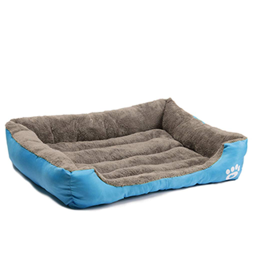 bluee Large bluee Large Makan Pet Bed Warm And Comfortable Pet BedSuitable For Dogs And Cats (color   bluee, Size   L)