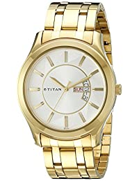 Titan Men's 1627YM01 Regalia Analog Display Quartz Gold Watch
