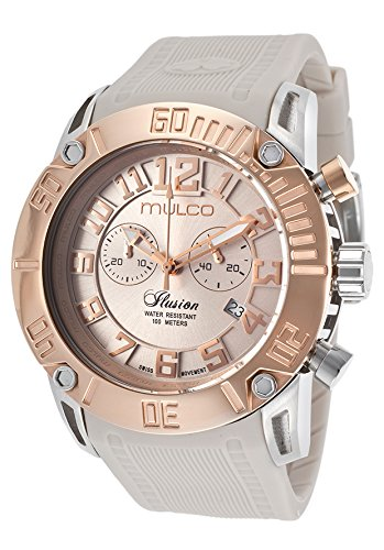 Mulco Ilusion Beige Dial Silicone Unisex Watch MW3-11011-093