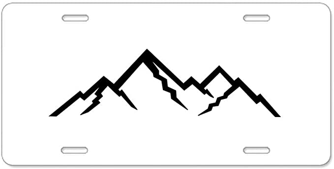 Camping Mountains Hiking Camp Life Aluminum Novelty Vanity Metal License Plate 6  x 12