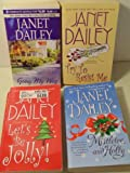 4 Janet Dailey Paperbacks- Going My Way, Try to Resist Me, Mistletoe and Holly, and Let's Be Jolly!
