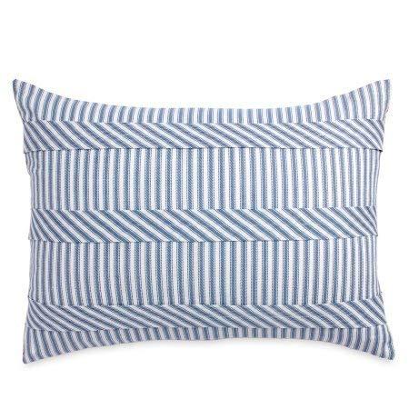 The Pioneer Woman Ticking Stripe Sham Set, Standard Blue ()