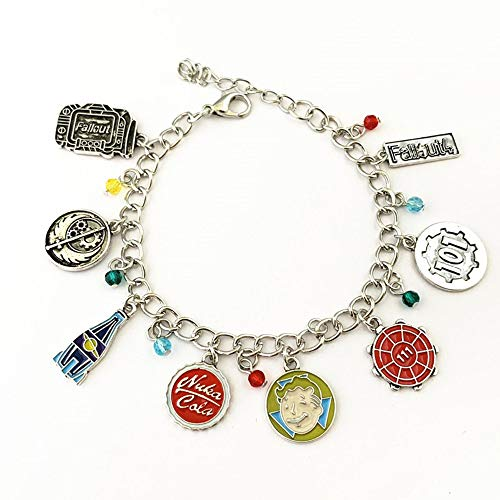 Athena Brand Fallout Charm Bracelet Quality Cosplay Jewelry Gaming Anime Series with Gift -