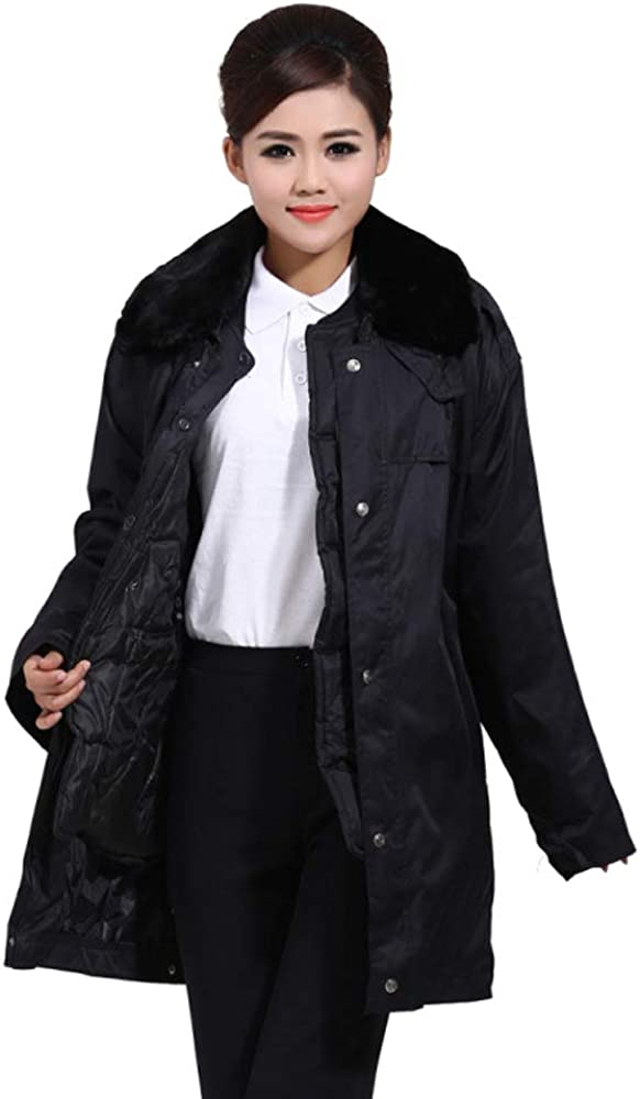 BOZEVON Men Cotton-Padded Jacket Winter Black Coat