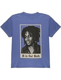 Bob Marley - Unisex-child B Is For Bob Youth T-shirt Youth Medium Blue