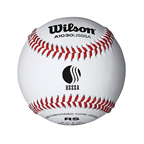 Wilson A1030BUSSSA League Series Baseball (12-Pack), White by Wilson