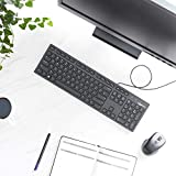 Amazon Basics Matte Black Wired Keyboard - US