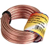 Cable de altavoz Hama 2 x 0,75 mm² 15 m Transparente