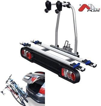 Menabo - Project Tilting 2 - Porta bicicletas sobre enganche para 2 bicicletas, plegable: Amazon.es: Coche y moto