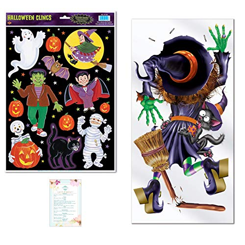 Halloween Witch Door Cover and 12 InchX 17 ()
