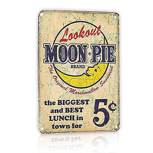 M-Mount Lookout Moon Pie The Biggest And Best Lunch In Town For Tin Signs Vintage Coffee Country Home Bar Wall Decor Art Poster Sign 8X12Inch (Old Signs)