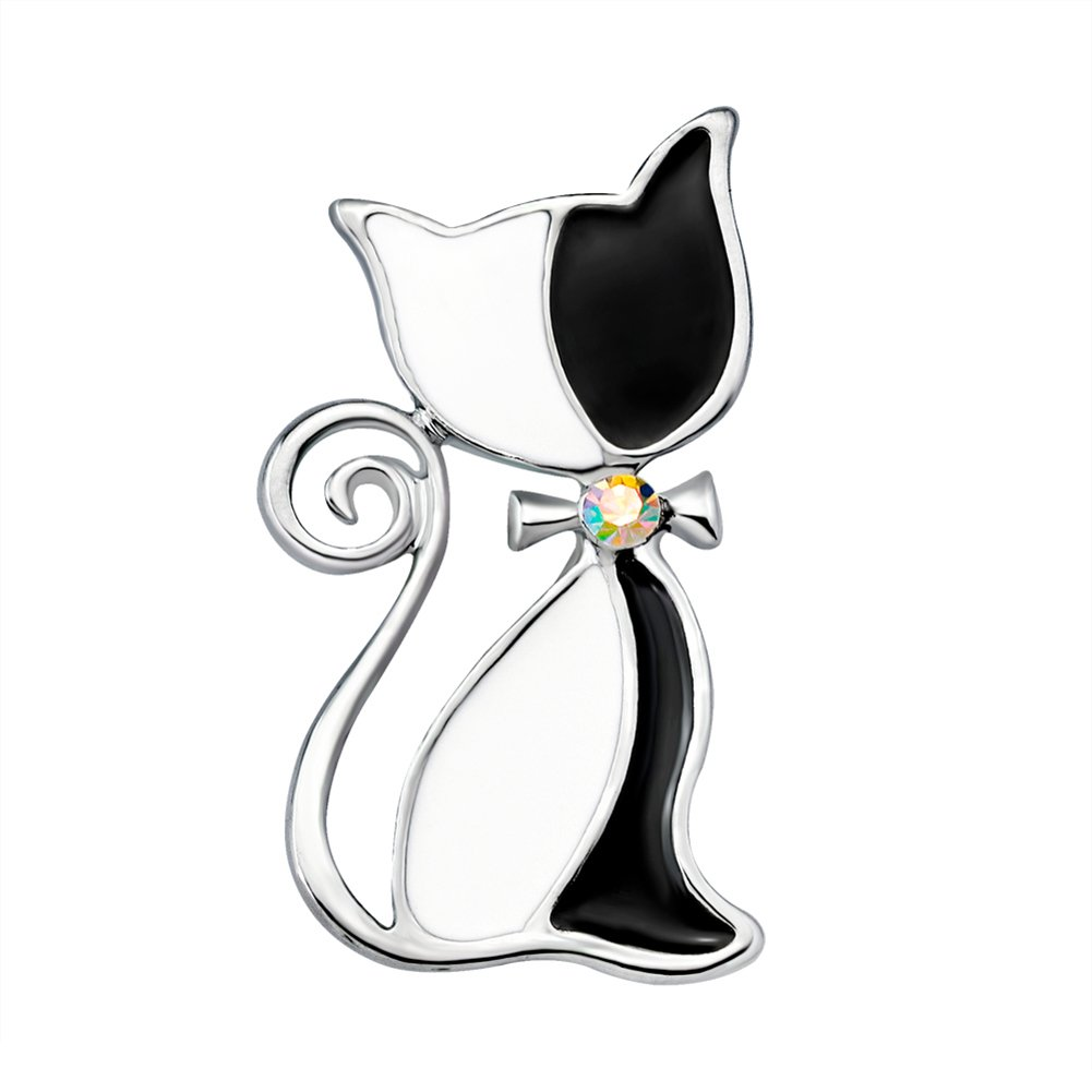 Womens Cat Brooches Scarves Shawl Clip Party Jewelry Gift Tangbasi Brooch Pins
