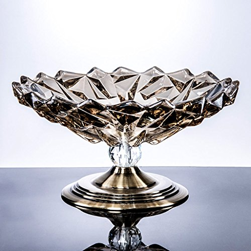 CS Modern Living Room Coffee Table Glass Compote Household Water Utility Crystal Candy Cish Fruit