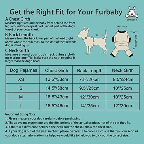 CuteBone Dog Pajamas Adorable Puppy Clothes Jumpsuit Pjs Pet Apparel Soft Fleece Cat Coat 23