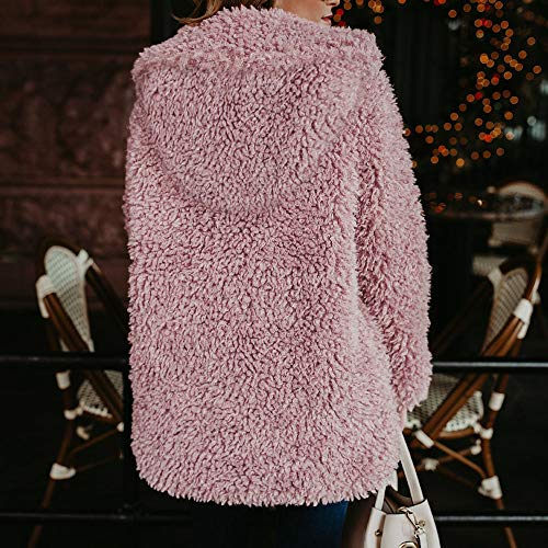 Pink Giacca Caldo Parka Morwind Donna Inverno Piumino Fashion Jacket Outercoat Artificiale Pelliccia Outwear Soprabito In Cappotto Casual q1a4X1w