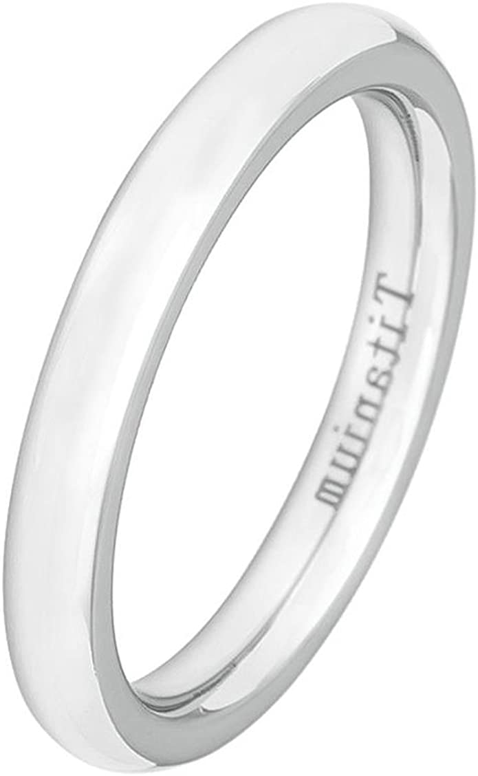 High Polished Sterling Silver 3MM Classic Wedding Band Ring