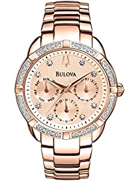 98W178 Ladies Diamond Rose Gold Plated Chronograph Watch