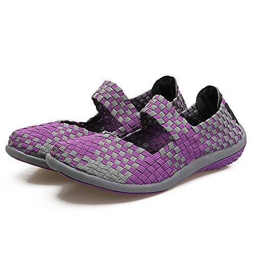 Zapatillas para AIRAVATA Morado2 SH075 Mujer wX5nST1Uq