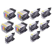 22 Pack - Toners & More ® Compatible Inkjet Cartridge Set for Brother LC-75 LC75 LC71 LC-71 LC 75, LC-75BK Black, LC-75C Cyan, LC-75M Magenta, LC-75Y Yellow, Compatible with Brother MFC-J6510DW, MFC-J6710DW, MFC-J6910DW, MFC-J280W, MFC-J425W, MFC-J430W, MFC-J435W, MFC-J5910DW, MFC-J625DW, MFC-J825DW, MFC-J835DW