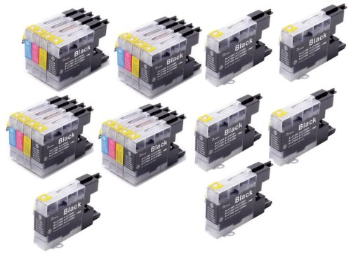 22 Pack - Toners & More ® Compatible Inkjet Cartridge Set for Brother LC-75 LC75 LC71 LC-71 LC 75, LC-75BK Black, LC-75C Cyan, LC-75M Magenta, LC-75Y Yellow, Compatible with Brother MFC-J6510DW, MFC-J6710DW, MFC-J6910DW, MFC-J280W, MFC-J425W, MFC-J430W,