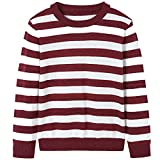 #10: BYCR Boys' Casual Stripe Long Sleeve Cotton Crew Neck Pullover Sweater Shirt