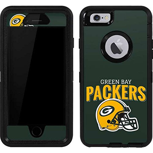(Skinit Green Bay Packers Helmet OtterBox Defender iPhone 6 Skin for CASE - Officially Licensed NFL Skin for Popular Cases Decal - Ultra Thin, Lightweight Vinyl Decal Protection)