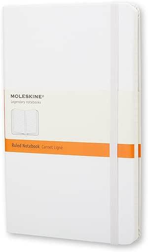 Moleskine Sert Kapak Çizgili, Beyaz, 9 x 14 cm , 192 Sayfa