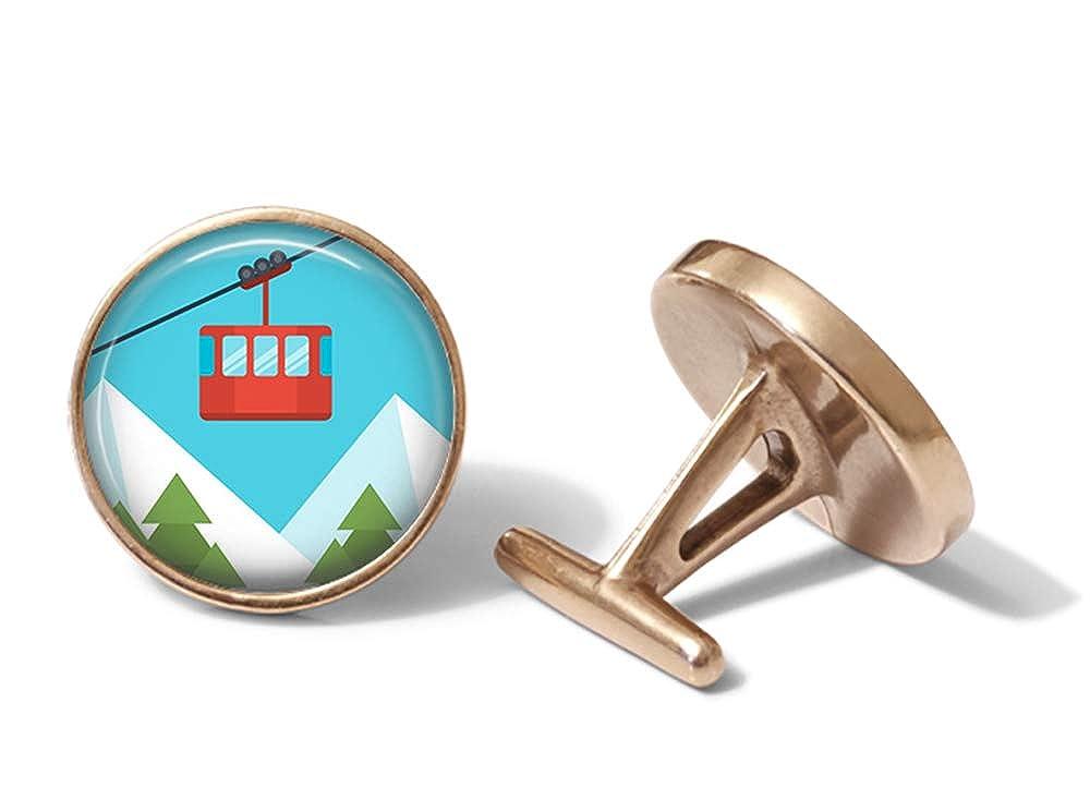 Oakmont Cufflinks Cable Car Cufflinks Mountain Tram Cuff Links Solid Bronze