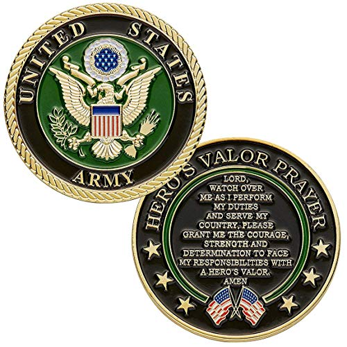 flag connections United States Army Challenge Coin with Prayer 1-Pack (One Coin) (Chaplain Challenge Coin)
