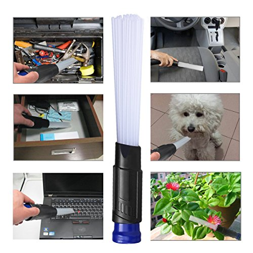 Kivora Dust Dirt Remover Brush,2018 Updated Vacuum Cleaner Universal Vacuum Attachment,Strong Small Suction Cleaner Remover for Air Vents,Corners,Keyboard,Drawer,Car,Pets,Tools and Plants (Blue+Black) by Kivora (Image #5)