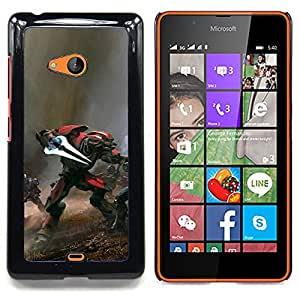 """Qstar Arte & diseño plástico duro Fundas Cover Cubre Hard Case Cover para Nokia Lumia 540 (Guerra Hal0"""")"""