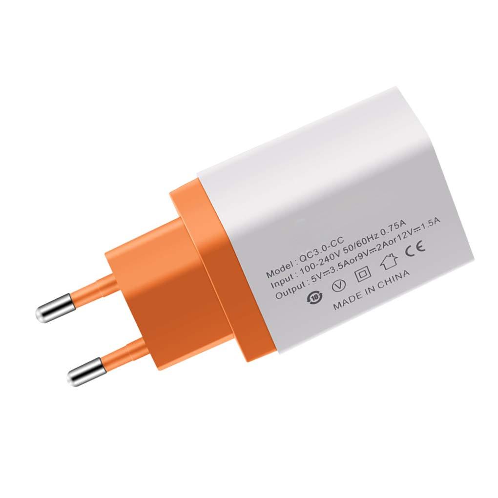 Windy5 Universal del teléfono móvil de Carga rápida Cargador de Viaje Enchufe de la UE Pared rápido reemplazo Adaptador de la Carga 3.0 USB para ...