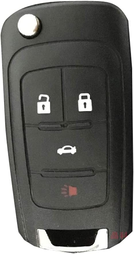 WBOY Keyless Flip Folding Remote Key Fob Case Shell 4 Buttons Replacement Compatible with 2010-2014 Chevrolet Camaro Equinox