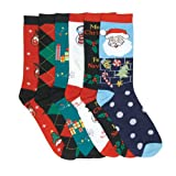 Mopas lot of 3 Pairs Womens Super Soft Winter Crew Xmas Socks