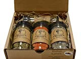 Italian Lovers Gift Set of 4 ~ Gift Set by High Plains Spice Company ~ Gourmet Meat and Veggie Spice Blends & Rubs For Beef, Chicken, Veggies & All Recipes ~ Spice Blends Handcrafted In Colorado, USA