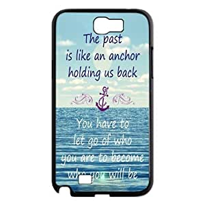 Anchor Quotes Samsung Galaxy Note II N7100 Case Cover Protecter - Retail Packaging - Durable Plastic