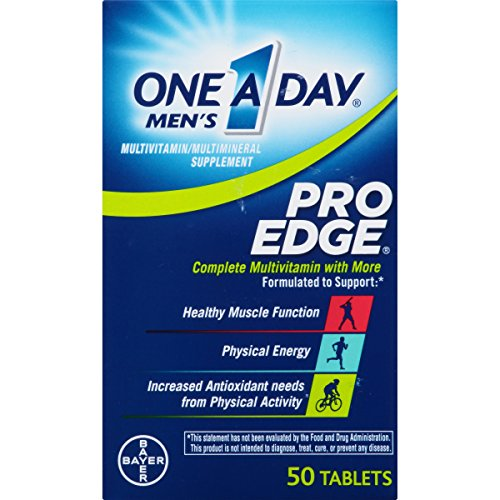 One A Day Men's Pro Edge Multivitamin, Supplement with Vitamins A, C, E, and B-Vitamins for Energy Support and Vitamin D and Magnesium for Healthy Muscle Function, 50 count