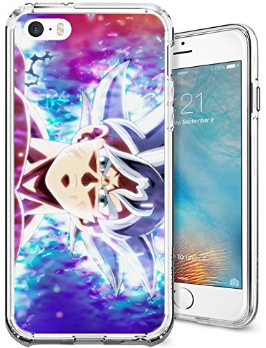 iPhone 5/5s/SE Case, Chrry Cases Ultra Slim [Crystal Clear] Dragon Ball Z/Dragon Ball Super Soft Transparent TPU Case Cover for Apple iPhone 5/5s/SE - Goku Ultra Instinct Mastered (Dragon Ball Z I Phone 5s Case)
