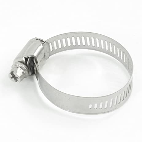 Uxcell Stainless Steel Hoop Ring Worm Gear Hose Cl& 21mm to 44mm Silver Tone  sc 1 st  Amazon.com & Uxcell Stainless Steel Hoop Ring Worm Gear Hose Clamp 21mm to 44mm ...