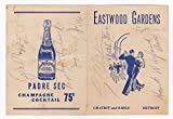 img - for EASTWOOD GARDENS BEVERAGE MENU SIGNED BY 6 BIG BAND/JAZZ MUSICIANS, INCLUDING BAND LEADER LARRY CLINTON. book / textbook / text book