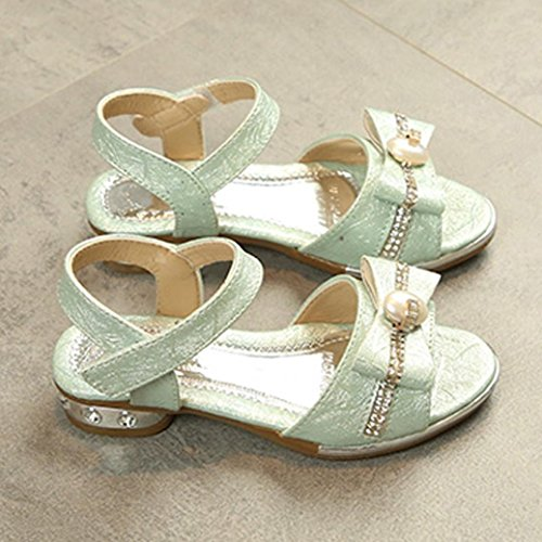 Prevently Kindersandalen Kinder Mädchen Strass Keil Prinzessin Schuhe Sandalen Kinder Mädchen Crystal Bowknot Sandalen Steigung Einzelne Prinzessin Schuhe Blau