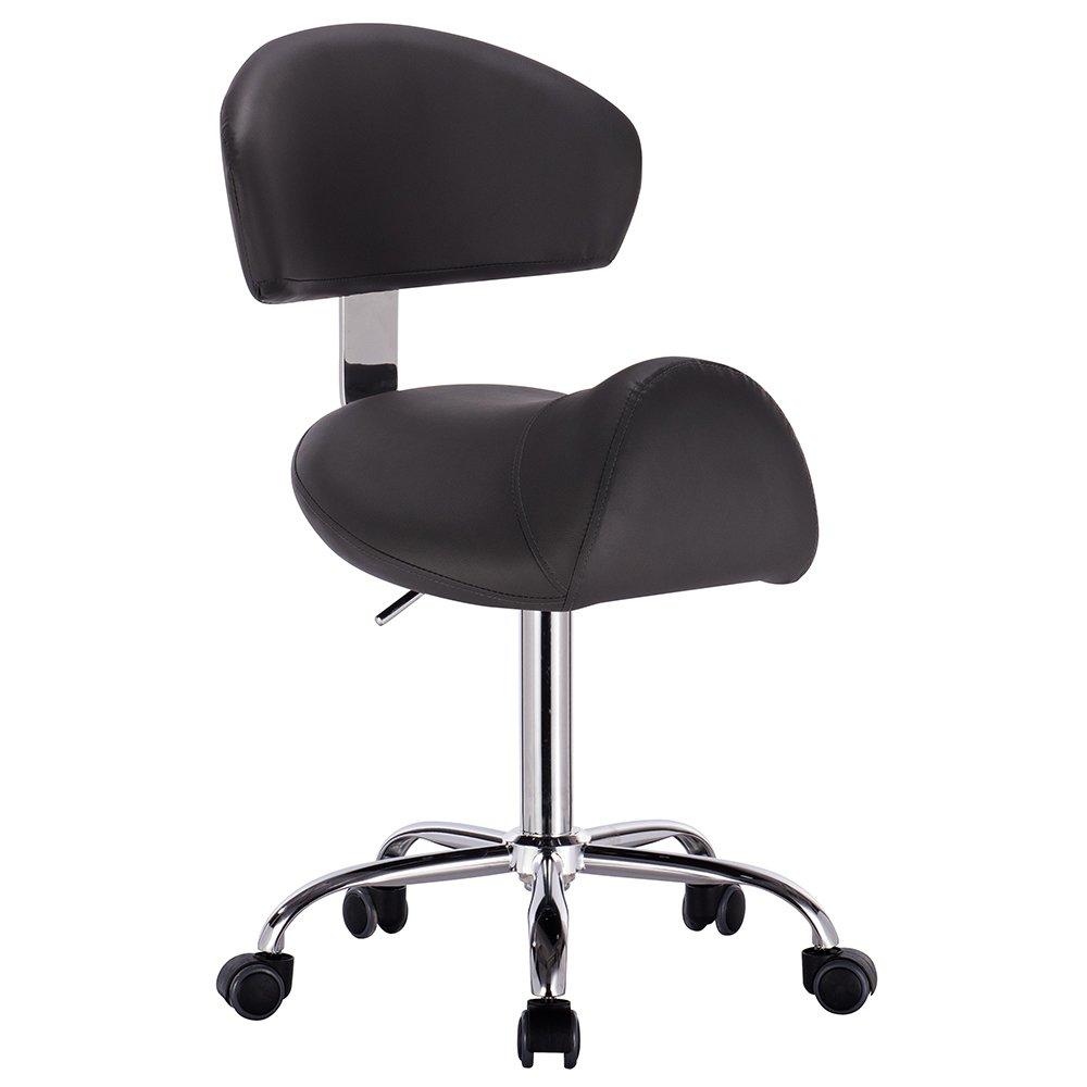 Modernhome Jupiter Adjustable Height Massage Stool w/Wheels