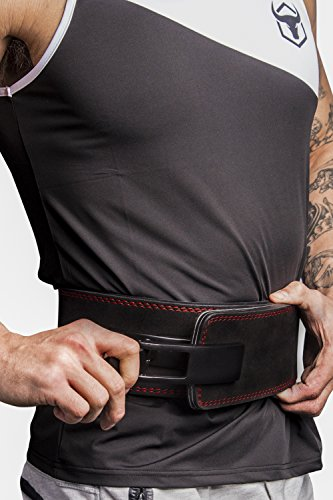 Iron Bull Strength Powerlifting Lever Belt - 13mm Power Weight Belt - 4-inch Wide - Heavy Duty for Extreme Weight Lifting