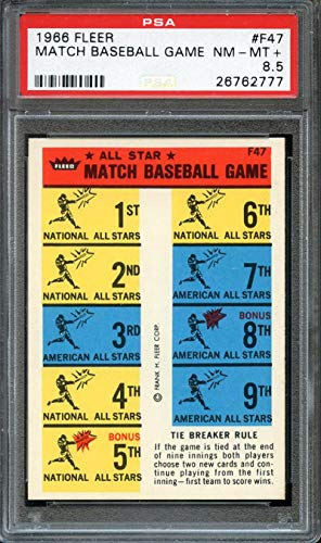 1966 FLEER MATCH BASEBALL GAME #F47 PSA 8.5 ()
