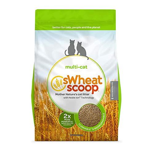 sWheat Scoop Multi-Cat All-Natural Clumping Cat Litter, 36lb Bag